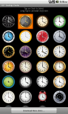 You can download and use any of more than 100 clock skins.