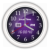 Purple Candy Vector Clock