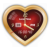 Golden Heart Vector Clock