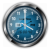 Blue Rumba Vector Clock