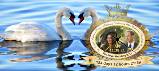 The Royal Wedding Countdown Clock